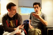 Interviewing Aviv Geffen (Blackfield) years ago at the Trocadero in Philly